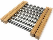 MGE - Extendable Trivet - Bamboo & Stainless Steel