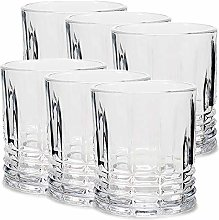 MGE - Set of 6 Glass Whisky Tumbler - Whisky Glass