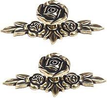 Mgoodoo 2 Pcs Handle Rose Zinc Alloy Wardrobe