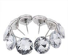 Mgoodoo 20pcs Nails Buttons Crystal Tacks Sofa