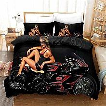 MGQSS 4 Piece Kids Boys Girls Bedding Black