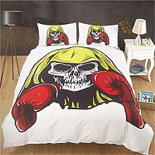 MGQSS 4 Piece Kids Boys Girls Bedding Fight Skull