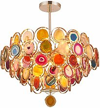 MGWA chandelier Post-modern Color Agate Luxury