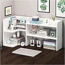 MHBGX Bookshelf,2-Shelf Desktop Bookshelf
