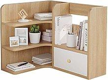 MHBGX Bookshelf,3-Tier Countertop Bookcase Office