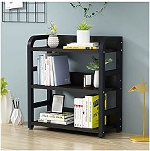 MHBGX Bookshelf,3 Tier Desktop Bookshelf with