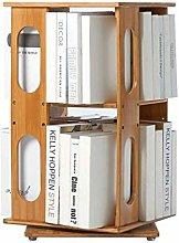MHBGX Bookshelf,360 Degree Rotating Bookshelf