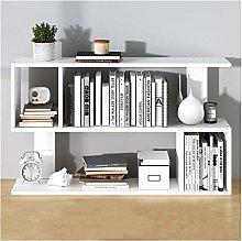 MHBGX Bookshelf,Bookcase 2-Shelf Desktop Bookshelf