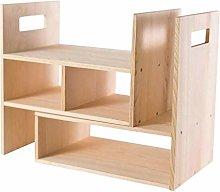 MHBGX Bookshelf,Desktop Bookshelf Adjustable