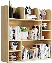 MHBGX Bookshelf,Multi-Layer Bookshelf Desktop