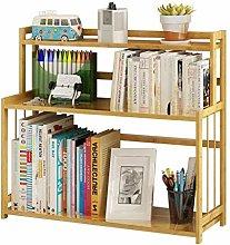 MHBGX Bookshelf,Three-Layer Bookshelf Desk Surface
