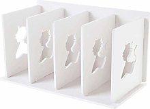 MHBGX Bookshelf,White Desktop Bookshelf Four