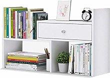 MHBGX Bookshelf,with 1 Drawers Desk Storage