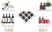 MHBGX Wine Rack,Heart-Shaped Wall-Mounted Creative