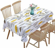 MHCY Pvc Waterproof Tablecloths Plant Pastoral