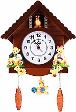 MHGLOVES Quartz Cuckoo Clock, Forest House Wall