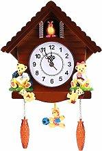 MHGLOVES Quartz Cuckoo Clock, Forest House Wall
