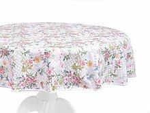 MI CASA 8435223089853 Tablecloth, Flowers, Red,