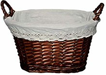 Mi Casa Oval Basket Brown 40 x 27 x 23 cm