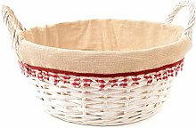Mi Casa Red Basket, White, White