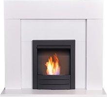 Miami Fireplace in Pure White with Colorado Bio