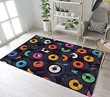 Mianbao Rug Carpets Funnys Funny Vinyl Records And