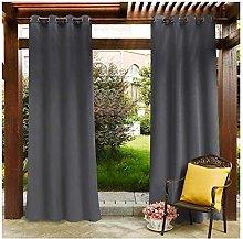 MIAOKU Outdoor Curtain, Waterproof Drapes Panels