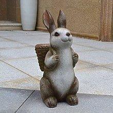 MiaoMiao Rabbit Statue The Rabbit Holding a Basket