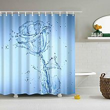 MIASDUANFA Shower curtainBlue sky Beach Shower