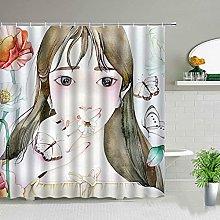 MIASDUANFA Shower curtainChinese Style Cartoon