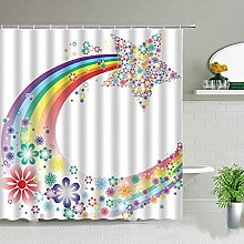 MIASDUANFA Shower curtainFlowers Butterfly