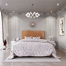 MiBed Cheshire Febric Superking Bed Frame - Orange