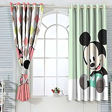 Mic-key Min-nie Mouse Curtains for child living