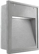 Micenas fluorescent wall light 25 cm, aluminum and