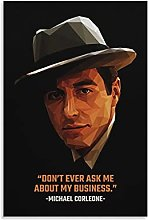 Michael Corleone Quotes Canvas Art Poster and Wall