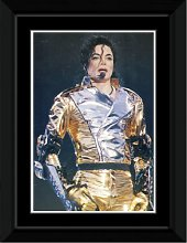 Michael Jackson - Silver Suit Framed and Mounted