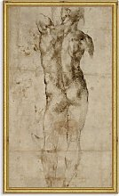 Michelangelo - 'Male Nude Seen From the