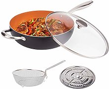 MICHELANGELO 5L Nonstick Woks and Stir Fry Pans