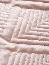 Michelle Keegan Home Pink Velvet Throw