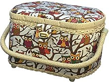 Michley Sewing Basket with 41-PC Sewing Ki