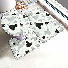 Mickey Mouse Bathroom Rug Set 3 Piece, Non Slip