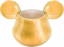 Mickey Mouse Deluxe Ceramic Egg Cup 3D, Gold