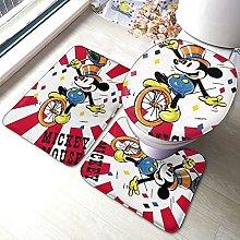 Mickey Mouse Minnie Bathroom Rugs Set Non-Slip