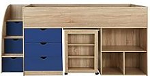Mico Mid Sleeper Bed With Pull-Out Desk And