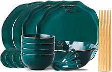 MICPB Tableware Set,Ceramic Tray Kitchen Tableware
