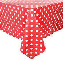 Micro-Pro Red/White Polka Dots Wipe Clean PVC