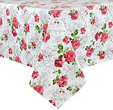 Micro-Pro Roses Wipe Clean PVC Vinyl Tablecloth
