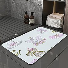 Microfiber Bath Rug Absorbent Bathroom Mats Ballet