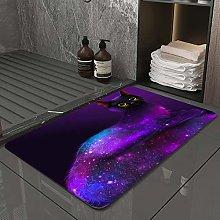 Microfiber Bath Rug Absorbent Bathroom Mats Black