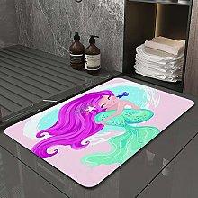 Microfiber Bath Rug Absorbent Bathroom Mats Cute